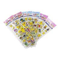 Pokémon Klistremerker i 3D - 6 stk. ark (ca. 72 stk.)