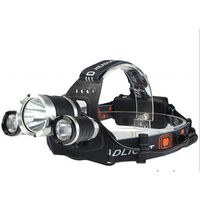 Vanntett hodelykt LED - Svart / sølv