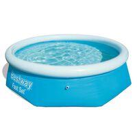 Bestway Oppblåsbart svømmebasseng Fast Set rundt 244x66 cm 57265