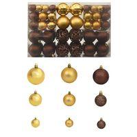 vidaXL Julekulesett 6 cm 100 stk brun/bronse/gull