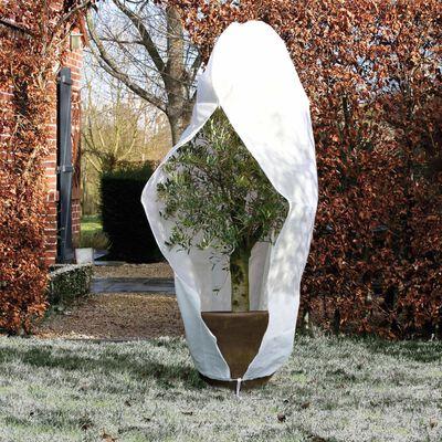 Nature Vintertrekk med glidelås fleece 70 g/m² hvit 2,5x2,5x3 m