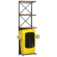 vidaXL Traktor-vinskap gul 49x31x170 cm heltre mango