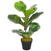 vidaXL Kunstig plante fiolinfiken med potte grønn 45 cm