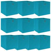 vidaXL Oppbevaringsbokser 10 stk babyblå 32x32x32 cm stoff