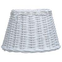 vidaXL Lampeskjerm flettekurv 50x30 cm hvit
