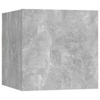vidaXL Vegghengte TV-benk betonggrå 30,5x30x30 cm