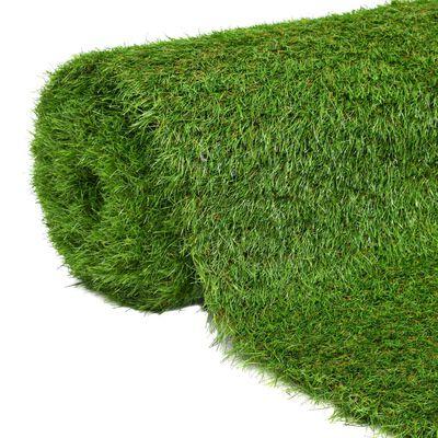 vidaXL Kunstgress 1,5x10 m/40 mm grønn