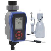 vidaXL Digital vanningstimer for hage med en krankobling og fuktsensor
