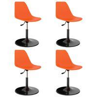 vidaXL Svingbare spisestoler 4 stk oransje PP