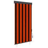 vidaXL Utendørs rullegardin 100x250 cm oransje og brun