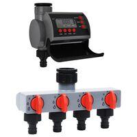 vidaXL Vanningstimer for hage med ett utløp og vannfordeler