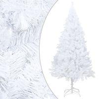 vidaXL Kunstig juletre med tykke grener hvit 210 cm PVC