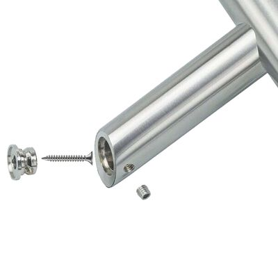 vidaXL Dørsett med håndtak og stang PZ 500 mm rustfritt stål