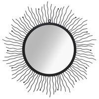 vidaXL Veggspeil solstråle 80 cm svart