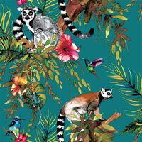 DUTCH WALLCOVERINGS Veggpanel lemur grønn 12402