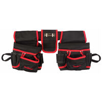 Toolland Dobbel verktøyholder for elektrikere svart og rød FI68