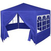 vidaXL Festtelt med 6 sidevegger 2x2 m blå