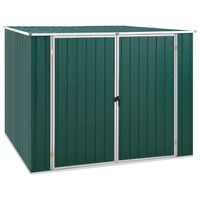 vidaXL Hageskur grønn 195x198x159 cm galvanisert stål