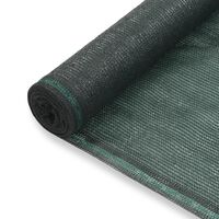 vidaXL Tennisskjerm HDPE 1,6x100 m grønn