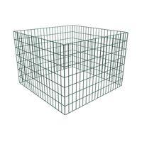 vidaXL Kompostkasse med kvadratisk netting 100 x 100 x 70 cm