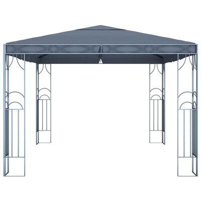 vidaXL Paviljong 400x300 cm antrasitt