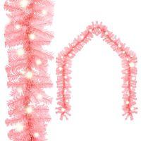 vidaXL Julekrans med LED-lys 5 m rosa
