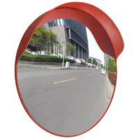 vidaXL Trafikkspeil konvekst PC plast oransje 60 cm utendørs