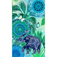 HIP Strandhåndkle ISARA 100x180 cm blå og grønn