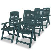 vidaXL Hagelenestoler 6 stk plast grønn