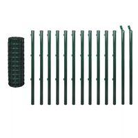 vidaXL Euro gjerde stål 25x1 m grønn