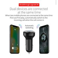 FM-sender til bilen, Bluetooth - Svart