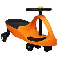 vidaXL Svingbil for barn med horn oransje