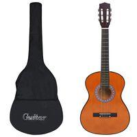 """vidaXL Klassisk gitar for nybegynnere med veske 3/4 36"""""""