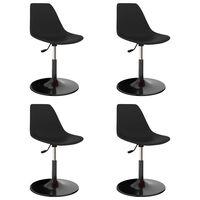 vidaXL Svingbare spisestoler 4 stk svart PP