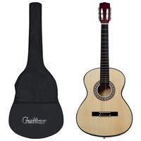 """vidaXL Klassisk gitar nybegynnersett 12 deler 4/4 39"""""""