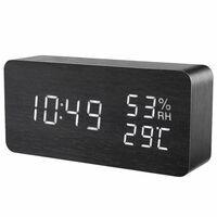 Digital LED vekkerklokke - svart