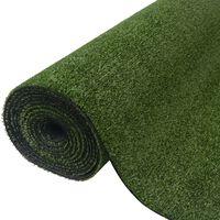 vidaXL Kunstgress 0,5x5 m/7-9 mm grønn