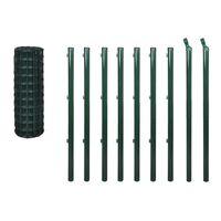 vidaXL Euro gerde stål 10x1,2 m grønn