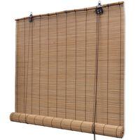 vidaXL Rullegardin bambus 100x220 cm brun