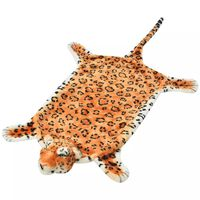 vidaXL Leopardteppe plysj 139 cm brun