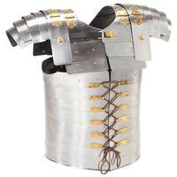 vidaXL Romersk kroppsrustning replikk LARP sølv stål