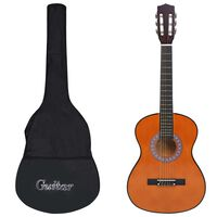 """vidaXL Klassisk gitar sett for nybegynnere og barn 8 deler 3/4 36"""""""