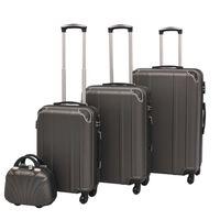 vidaXL 4-delers koffertsett antrasitt