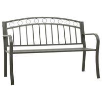 vidaXL Hagebenk 125 cm stål grå