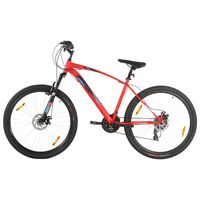vidaXL Terrengsykkel 21 trinn 29-tommers hjul 53 cm ramme rød