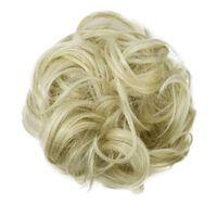 Scrunchie med syntetisk hår - Blond