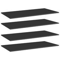 vidaXL Hylleplater 4 stk høyglans svart 100x50x1,5 cm sponplate