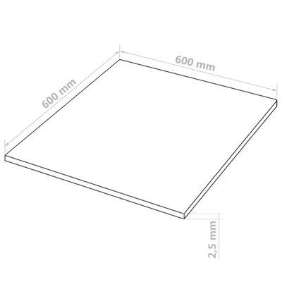 vidaXL Bordplater MDF 10 stk kvadratisk 60x60 cm 2,5 mm