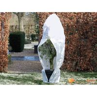 Nature Vintertrekk med glidelås fleece 70 g/m² hvit 1,5x1,5x2 m