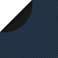vidaXL Flytende solarduk til basseng PE 210 cm svart og blå